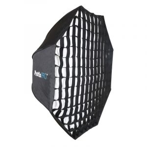 Phottix Easy Up HD Umbrella Extra Large Octa Softbox with Grid (120cm/47'') 1