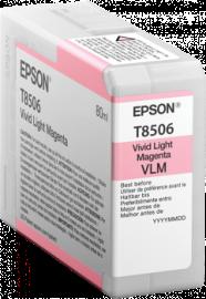 Singlepack Vivid Light Magenta T850600 - 80ml – per stampante SC-P800 1