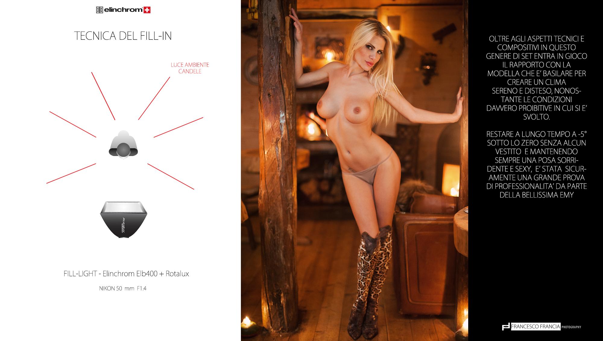 A -5°C per la copertina di Playboy con Elinchrom 34