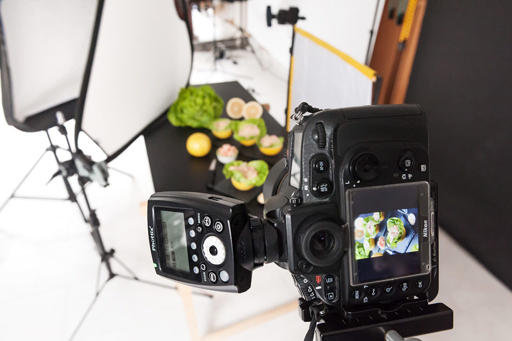 Food photography con un phottix mitros apromastore eu