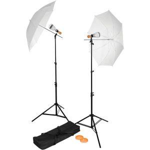 Westcott Basic - Kit 2 luci LED con ombrelli
