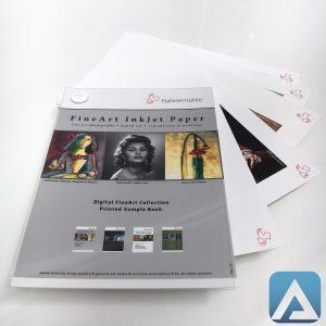 Campionario stampato carte fine art Hahnemuehle