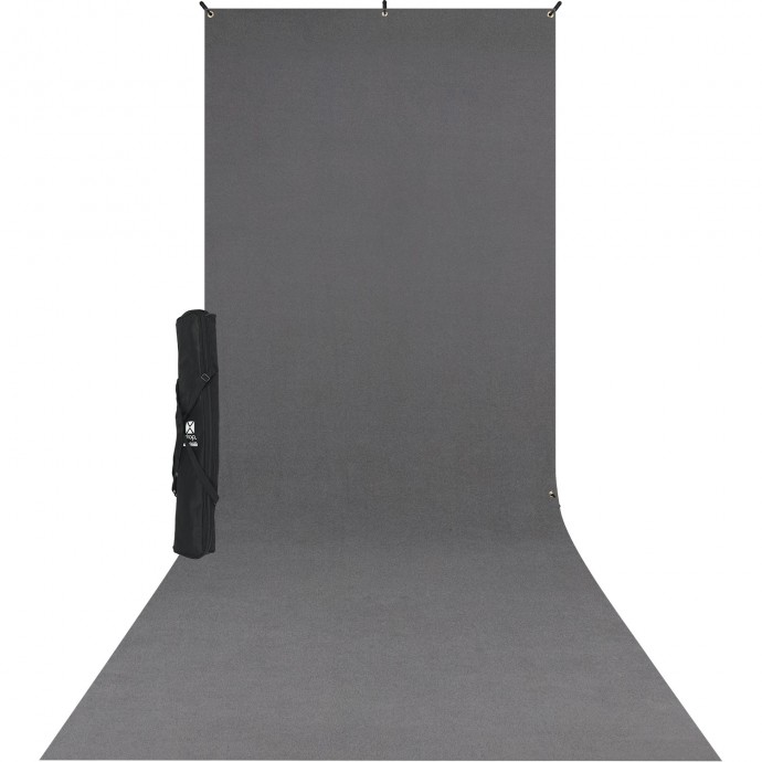 Westcott X Drop Sweep Backdrop Kit Fondale In Tessuto Grigio